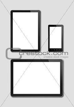 smartphone and digital tablet pc mockup