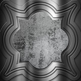 Decorative metal background with grunge centre
