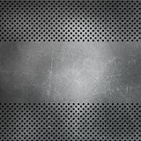 Scratched perforated metal background