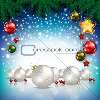 Abstract greeting with decorations