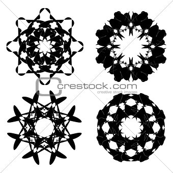 Abstract Black Ornaments