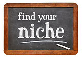 Find your niche advice on blackboard