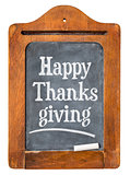 Happy Thanksgiving on blackboard