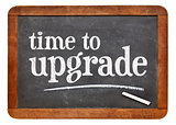 Time to upgrade reminder on blackboard