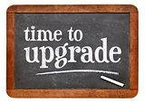 Time to upgrade reminder on blackboard
