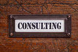 consulting  file cabinet label