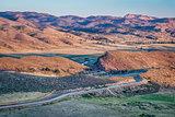 sunrise over Colorado foothills