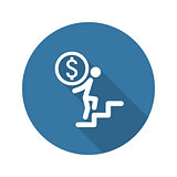 Way to Success Icon. Business Concept. Flat Design.