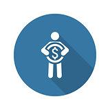 Acquisition Values Icon. Business Concept. Flat Design.