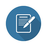 Summary Icon. Business Concept. Flat Design.