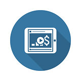 Video Lessons Icon. Business Concept. Flat Design.