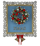 Christmas frame with wreath