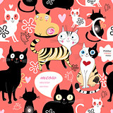 pattern in love with a cat