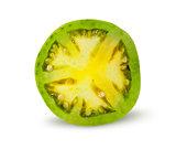 Half of green tomato