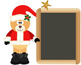 Teddy Bear Santa Claus with School Board
