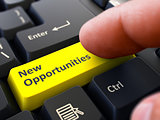 New Opportunities - Concept on Yellow Keyboard Button.