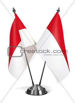 Monaco - Miniature Flags.