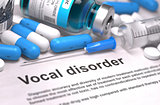 Vocal Disorder - Medical Concept. Composition of Medicaments.