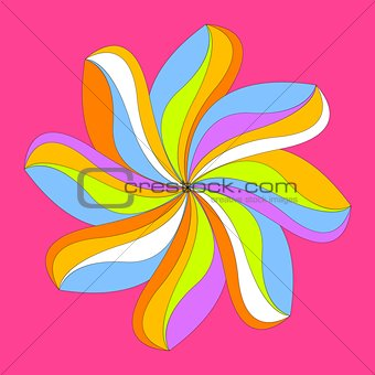 Abstract colorful flower design