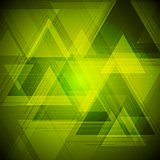 Bright tech triangles background