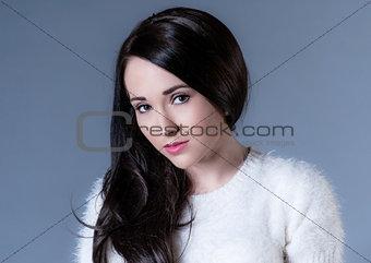 beautiful dark haired woman