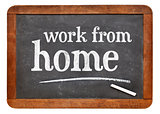 Work from home advice on blackboard