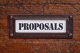 proposals -  file cabinet label