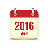 New Year 2016 Calendar Icon