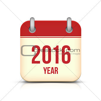 New Year 2016 Calendar Icon