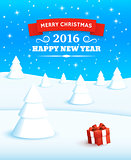 Merry Christmas Vector Background