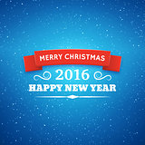 Christmas typography vector background