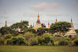 Scenic view of ancient temples in Old Bagan