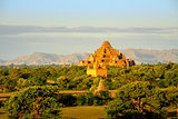 Scenic view of ancient Dhammayangyi temple in old Bagan, Myanmar