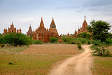 Landscape view of ancient temples in Old Bagan, Myanmar