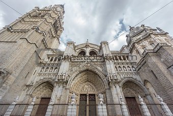 Toledo Cathedral, side view, Spain