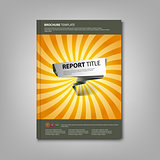 Brochures book or flyer with abstract pointer template