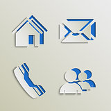 Web elements icons cut out template