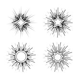 Hipster style vintage star burst with ray