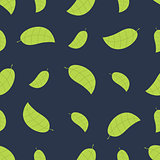 Seamless floral pattern with leafs