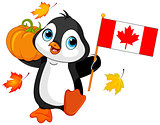 Canadian Thanksgiving Day Penguin