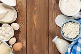 Sour cream, milk, cheese, eggs, yogurt and butter