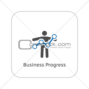 Business Progress Icon. Business Concept. Flat Design.