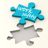 Work safety on blue puzzle