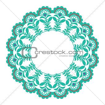 Christmas circle ornament