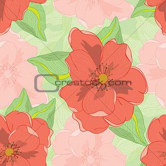 Oleander seamless pattern