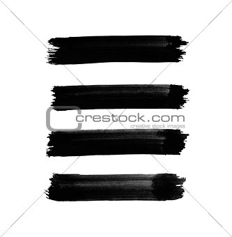 Abstract black watercolor lines for your project
