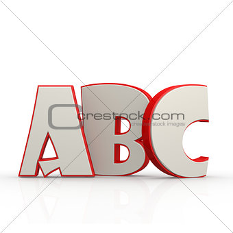 ABC alphabet with white background