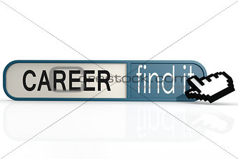 Career word on the blue find it banner