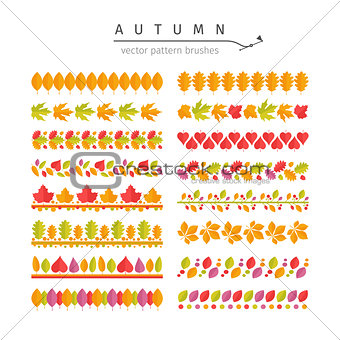 Autumn Leaves Pattern Brushes Set