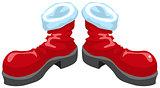 Red shoes santa